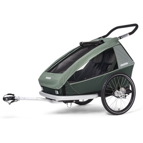 Croozer Kid Vaaya 2 Trailer para niños, jungle green